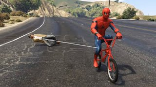 GTA 5 Water Ragdolls | SPIDERMAN Jumps/Fails #11 (Euphoria physics | Funny Moments)