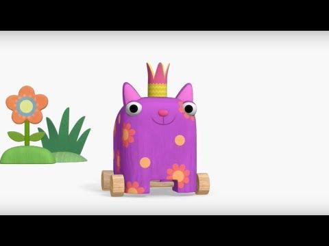 Теремок песенки для детей - Деревяшки - Бал - Мультики для детей и малышей