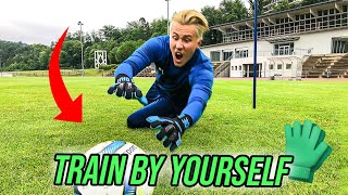 HOW TO TRAIN BY YOURSELF DURING CORONA - SOLO GOALKEEPER TRAINING 😱🧤