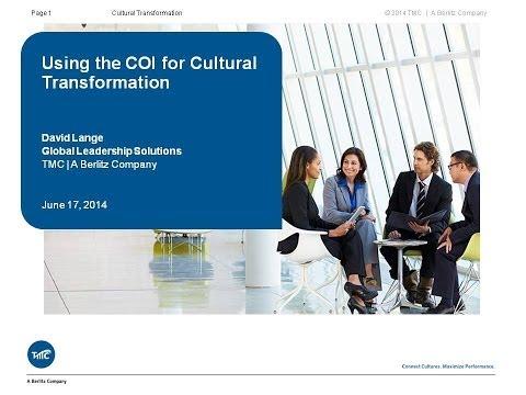 CN7 Webinar: Using the COI for Cultural Transformation
