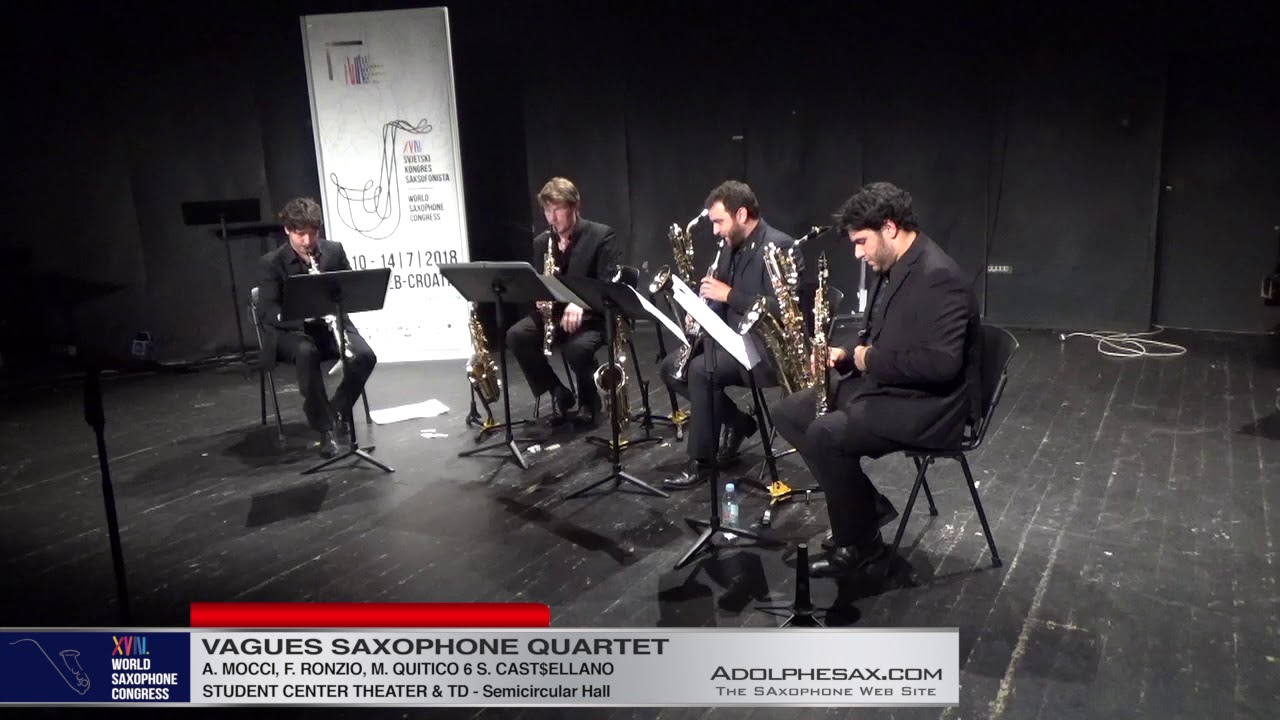 KIC by Gabriele Cosmi   Vagues Saxophone Quartet   XVIII World Sax Congress 2018 #adolphesax