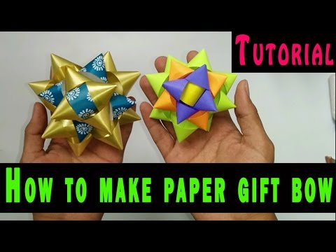 Paper GIFT BOW:Tutorial  How to make it Quick & Easy