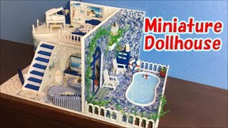 DIY  Miniature Dollhouse Kit Santorini