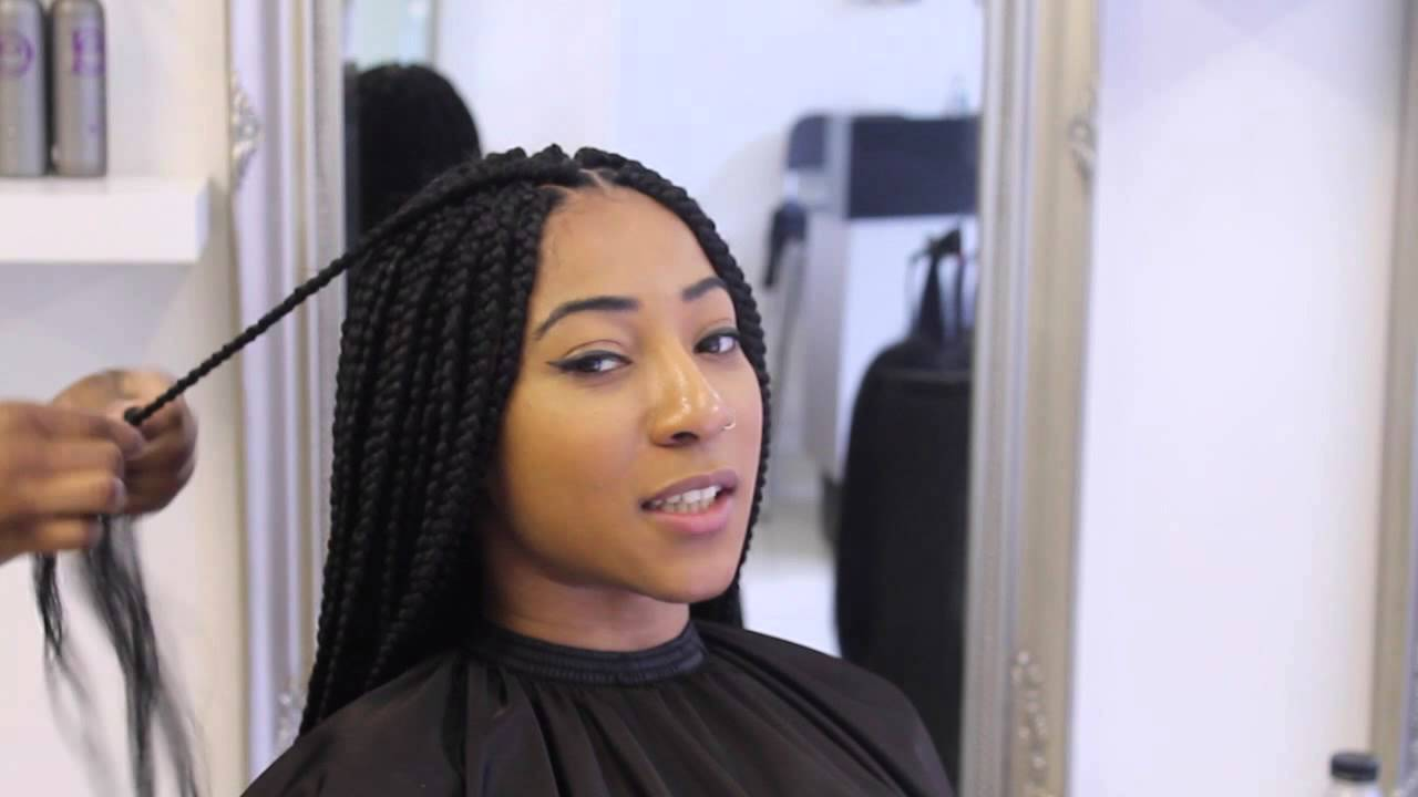Box Braids At Ebonyb Salon Youtube
