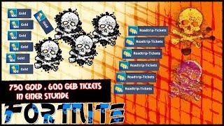 Fortnite RDW | 750 Gold + 600 Geburtstags Tickets DIE STUNDE | Fortnite Rette Die Welt