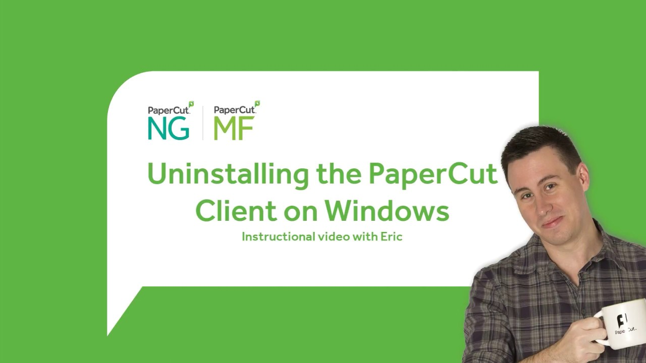 How to uninstall the PaperCut User Client on Windows