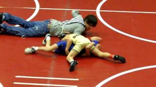 Riley wrestling Team Duals Worthington, MN  Jan. 2011  50lbs.