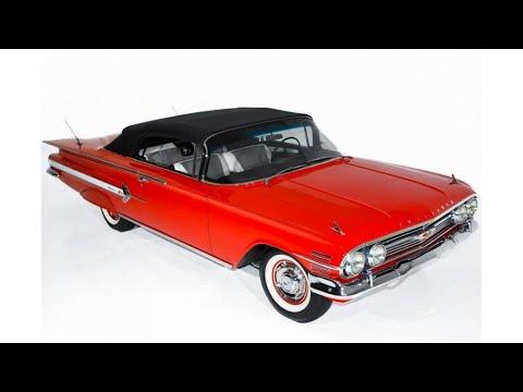 frame off restored 1960 Chevrolet Impala 348 Tri Power convertible (photo slideshow)