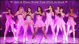 hd snsd 少女時代 girls peace world tour 2013 in seoul full