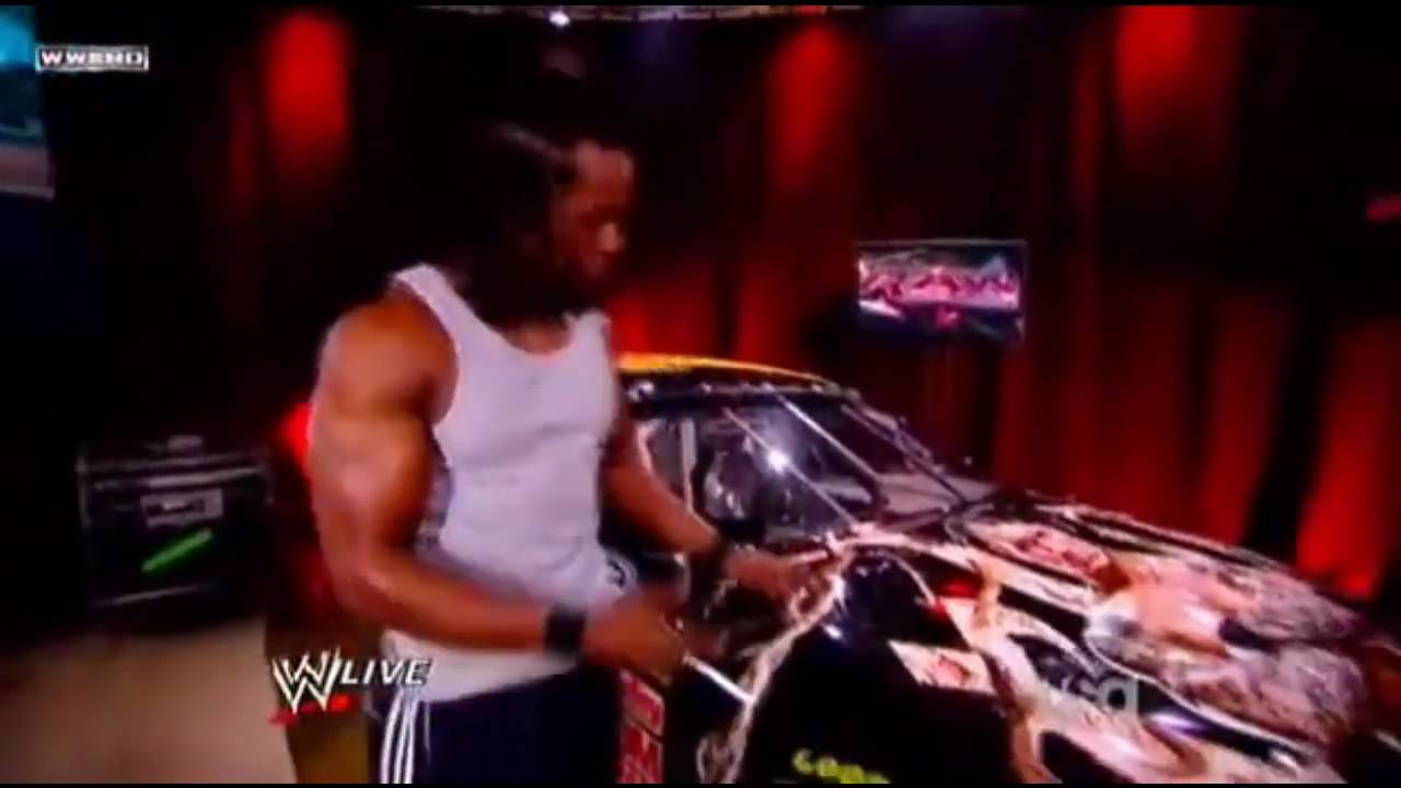 Kofi Kingston wrecks Randy Orton's car PART 1! - YouTube