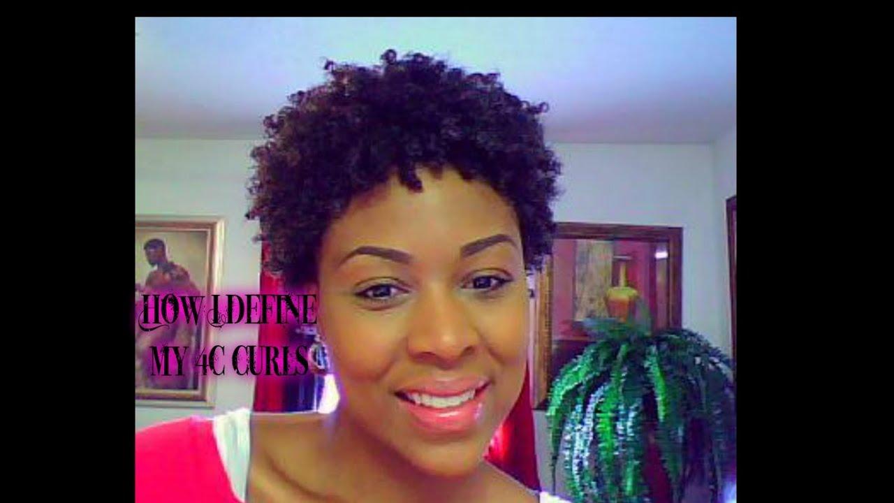 How I Define My Curls 4b 4c Hair - YouTube
