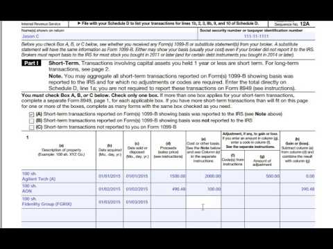 How to fill out IRS Form 8949 - YouTube