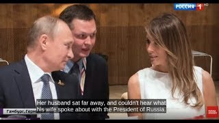 When Melania met Vladimir: Melania Trump sits beside Putin at G20 banquet dinner