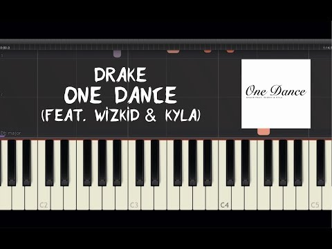 Drake - One Dance (feat. Wizkid & Kyla) - Piano Tutorial By Amadeus (Synthesia)