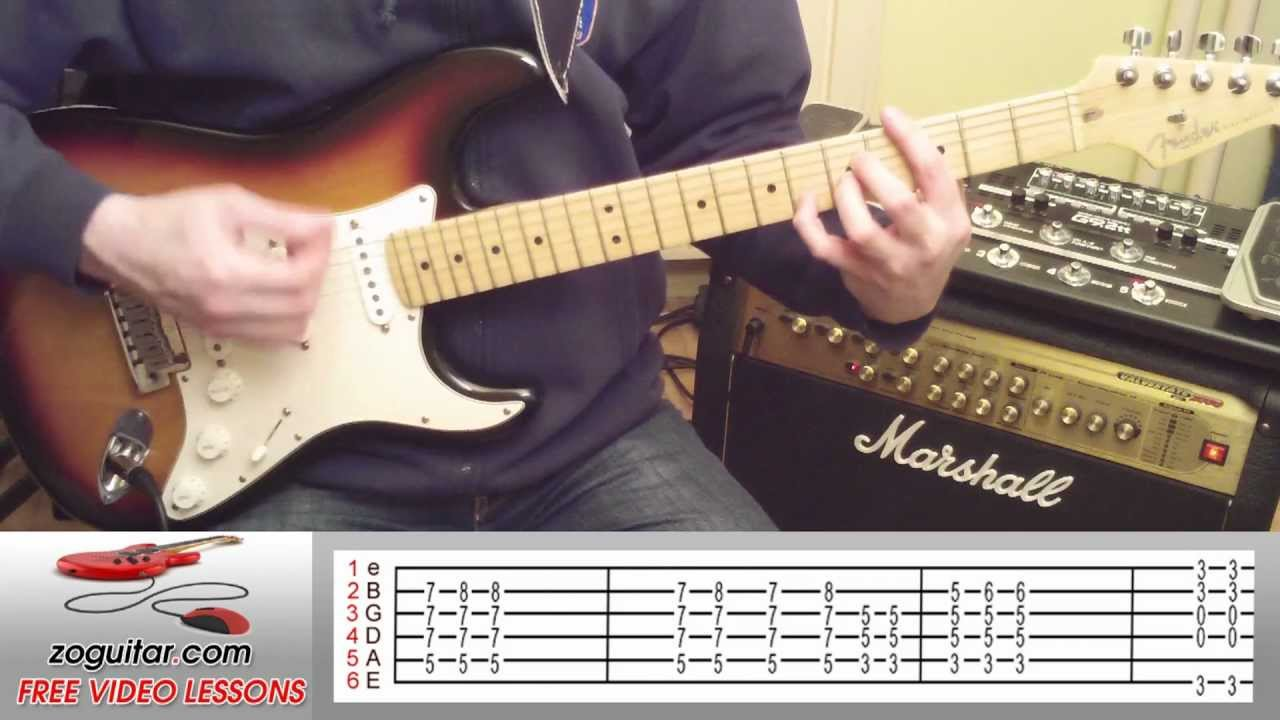 How To Play Love Removal Machine on Guitar by The Cult (main riff) + TAB