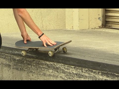 SKATEBOARD LESSONS | 50 50 A STREET LEDGE
