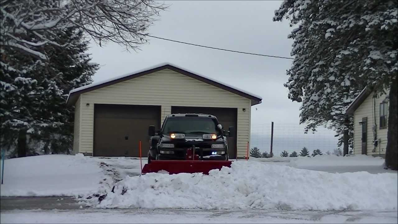 Snow Plowing With My 2002 Chevy Silverado Dually Duramax