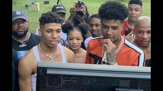 NLE Choppa Pulls Up On Blueface BBQ Cookout