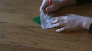 Origami  Polar Bear (santa Hat)