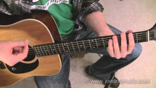 "Beginner Level Guitar Lesson: Simple Strumming Pattern / 2 Chord Rhythm ""A Horse With No Name"""""