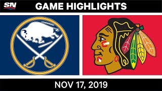 NHL Highlights   Sabres vs Blackhawks - Nov. 17, 2019