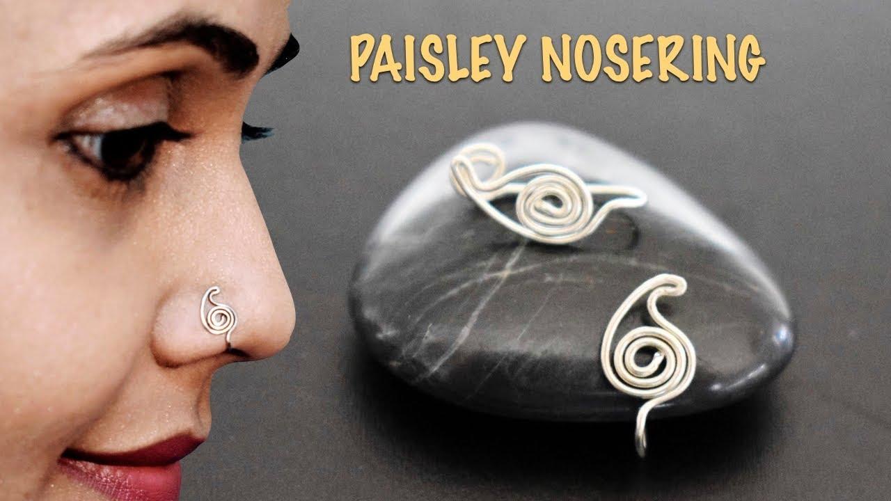 Nose Ring  marathi nose ring  clip on Indian Nose Ring Indian Bridal Jewelry Nathini bollywood nose ringnosepin