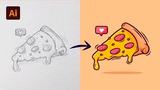 Adobe Illustrator Tutorial: Create a Vector Pizza from Sketch (HD) screenshot 4