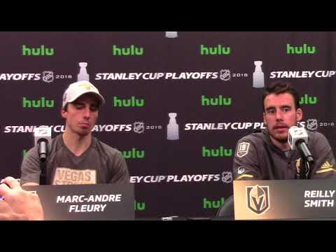 Golden Knights Marc-Andre Fleury, Reilly Smith Post-Game Presser 5/18