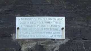 Newquay Watergate Bay Cornwall World War 2 B24 Liberator US Navy Mucks Mauler Memorial Plaque Part 2