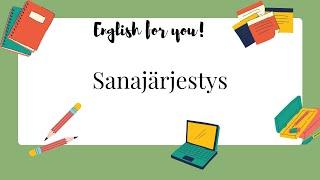 Englannin kielioppi - Sanajärjestys