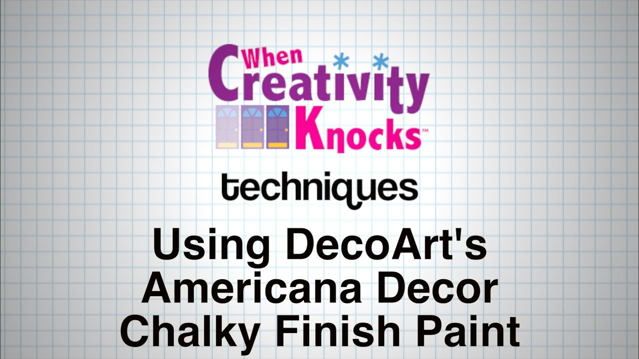 Americana Decor Chalky Finish How To Use Decoart S Americana Decor Chalky Finish Paint
