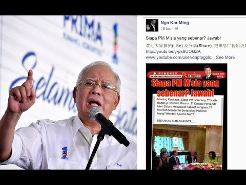 Najib slams fake news maker in 'Rosmah in Cabinet meeting' episode