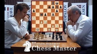 Kasparov's emotions against Carlsen!