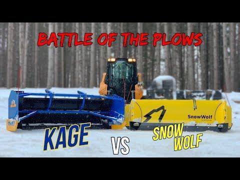 Kage Vs Snow Wolf Skid Loader Plow! | Best Snow Pusher For Skid Loader