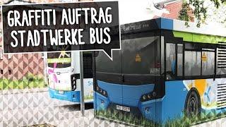 GRAFFITI AUFTRAG | Aus Trafostation wird Bus!!!