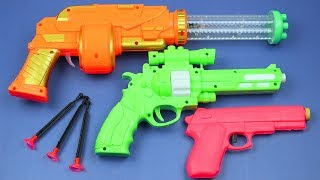 Box Full Of Toys! My Massive Gun Toys Arsenal - Learn colors with Many colored toy guns for kids