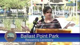 Mayor Buckhorn Reopens Ballast Point Park
