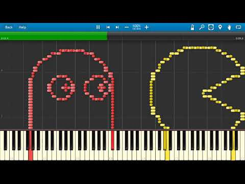 PAC-MAN Synthesia MIDI Art