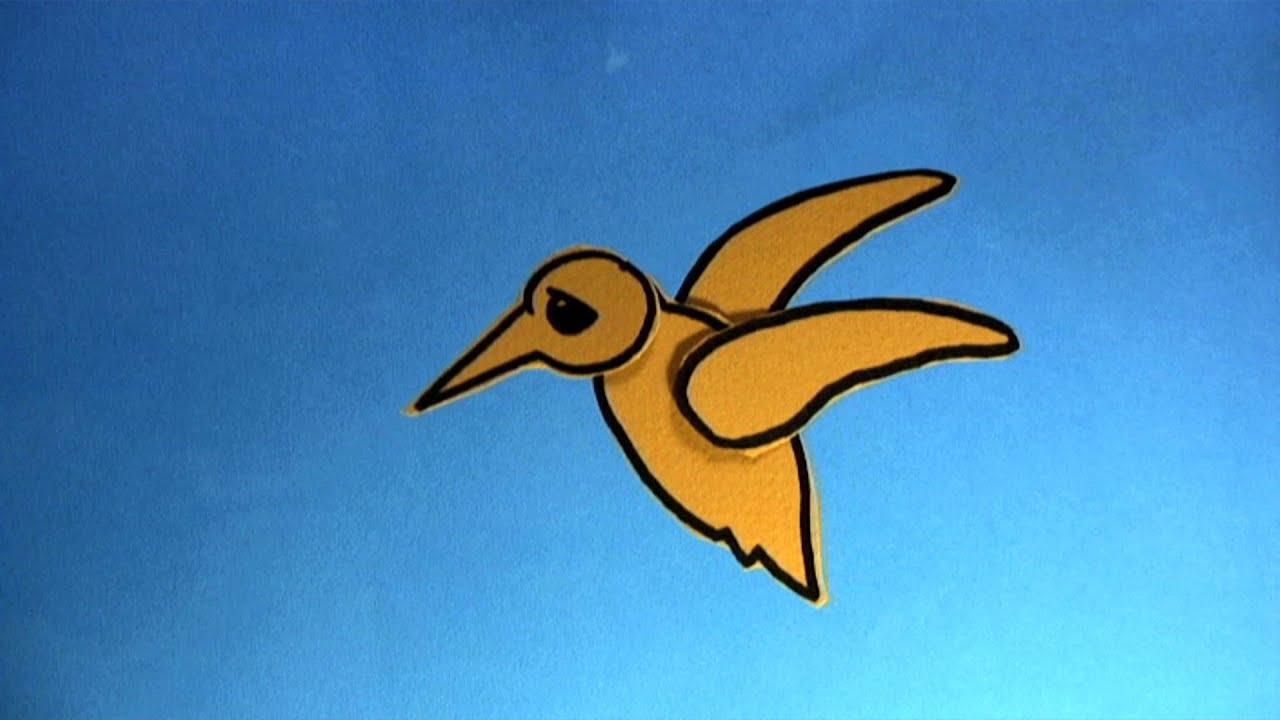 how to draw a cartoon bird flying