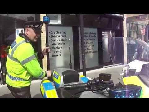 A brief encounter with a London Police Officer & a look around his motorcycle, at Queens Crescent.
