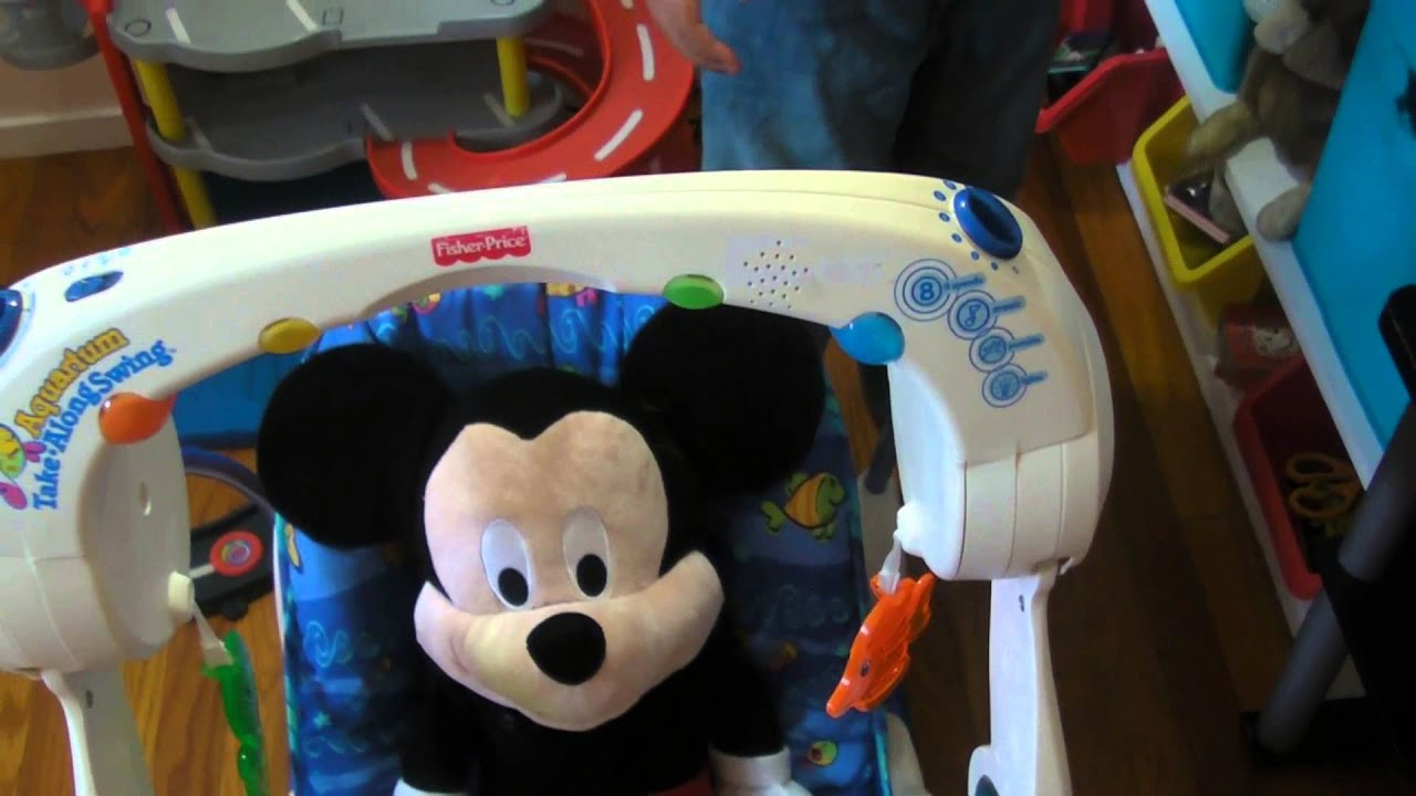 How to change batteries in fisher price aquarium take a along swing