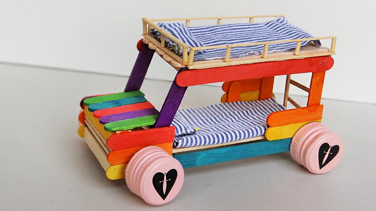 Crafts Cars: Popsicle Stick Crafts