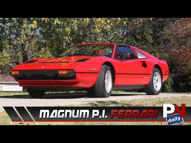 The Ferrari Driven By Tom Selleck In Magnum P I Is Going To Auction Youtube