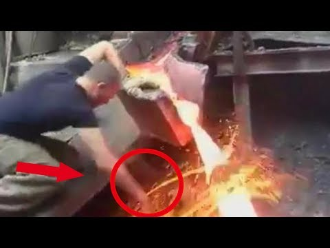5 Molten Metal Accidents Caught on Security Cameras & CCTV