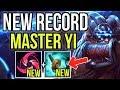 NEW KEYSTONE HAIL OF BLADES + ITEM STORMRAZOR ARE BROKEN! NEW WORLD RECORD YI - League of Legends