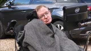 Professor Stephen Hawking does the Ice Bucket Challenge for MND