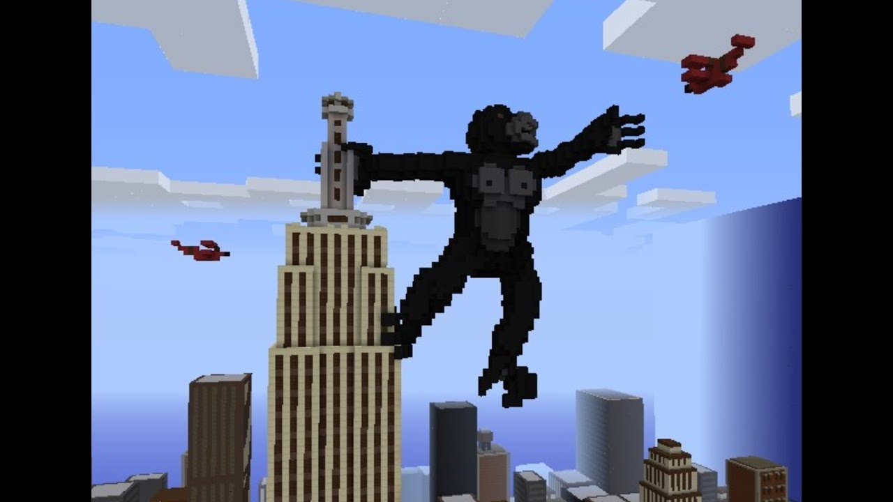 Minecraft - Huge Roller Coaster with King Kong - YouTube