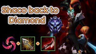 Shaco to Diamond Season 10 [League of Legends] Full Gameplay (almost) -Infernal Shaco