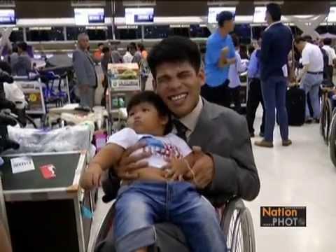 นักกีฬาคนพิการทีมชาติไทยเดินทางไปแข่งขันกีฬาเอเชียนพาราเกมส์ครั้งที่ 11เกาหลีใต้