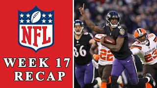 NFL Week 17 Recap: Ravens' bet on Lamar Jackson pays off, AFC and NFC playoff preview